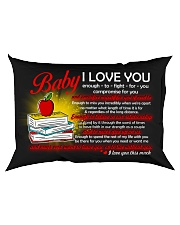 Baby I Love You Enough To Fight For You Teacher Rectangular Pillowcase back