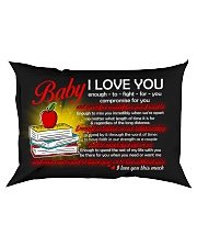 Baby I Love You Enough To Fight For You Teacher Rectangular Pillowcase front