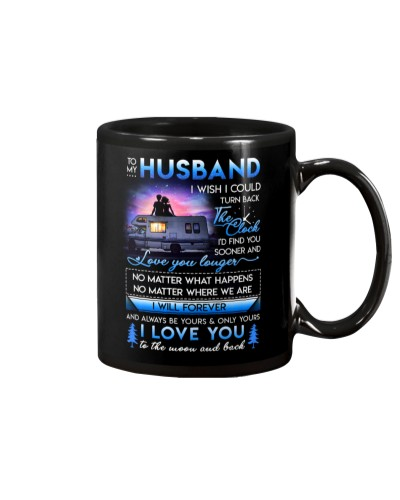 Husband Be Yours Clock Moon Camping