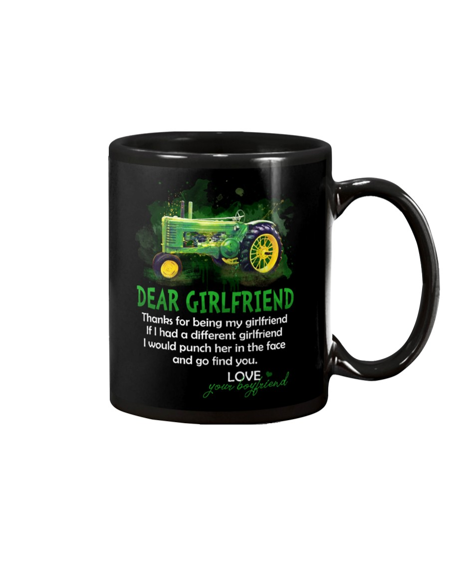 Thanks For Being My Girlfriend Tractor Mug