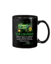 Thanks For Being My Girlfriend Tractor Mug front
