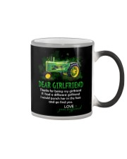 Thanks For Being My Girlfriend Tractor Color Changing Mug thumbnail