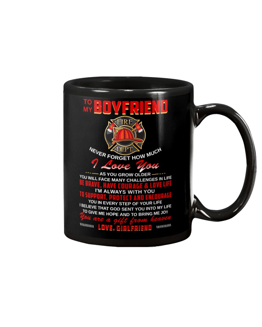 Firefighter Boyfriend I'm Always With You Mug