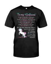 Unicorn Girlfriend The Answer Is You Classic T-Shirt thumbnail