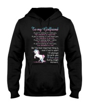 Unicorn Girlfriend The Answer Is You Hooded Sweatshirt tile