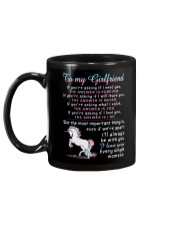Unicorn Girlfriend The Answer Is You Mug back