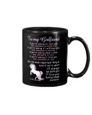 Unicorn Girlfriend The Answer Is You Mug front