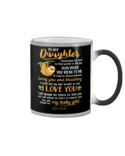 Sloth Daughter Last Breath To Say Love  Color Changing Mug tile