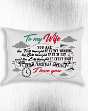 To My Wife You Are The First Thought Family Rectangular Pillowcase aos-pillow-rectangle-front-lifestyle-4
