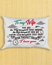To My Wife You Are The First Thought Family Rectangular Pillowcase aos-pillow-rectangle-front-lifestyle-6