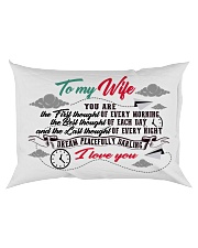 To My Wife You Are The First Thought Family Rectangular Pillowcase back