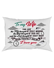To My Wife You Are The First Thought Family Rectangular Pillowcase front