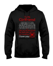 Firefighter Anything Right In My Girlfriend Hooded Sweatshirt thumbnail