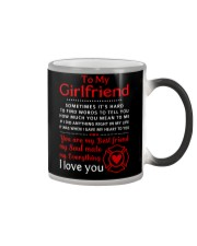 Firefighter Anything Right In My Girlfriend Color Changing Mug thumbnail
