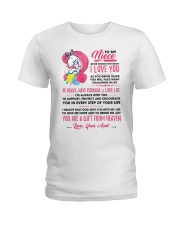 Unicorn Aunt Niece I'm Always With You Ladies T-Shirt thumbnail