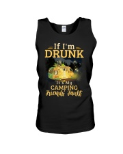 It's My Camping Friends' Fault Camping Unisex Tank thumbnail