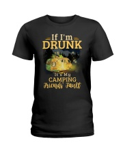 It's My Camping Friends' Fault Camping Ladies T-Shirt thumbnail