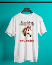 Let Me Check My Giveashitometer Horse Classic T-Shirt lifestyle-mens-crewneck-front-3