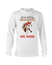 Let Me Check My Giveashitometer Horse Long Sleeve Tee thumbnail