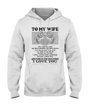 My Wife Growing Old Wolf Hooded Sweatshirt front