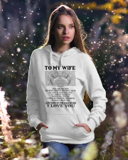 My Wife Growing Old Wolf Hooded Sweatshirt lifestyle-holiday-hoodie-front-5