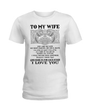 My Wife Growing Old Wolf Ladies T-Shirt thumbnail