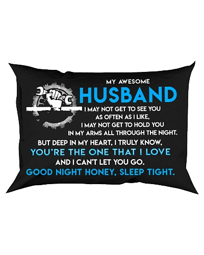 Mechanic Husband Good Night Sleep Tight Pillow