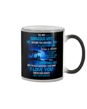 Meeting You Was Fate Family Wife Color Changing Mug thumbnail