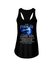 Family Fiancee I Love You Ladies Flowy Tank tile