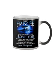 Family Fiancee I Love You Color Changing Mug tile