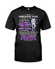 I Am Who I Am Because Of You Wolf Wife Classic T-Shirt thumbnail