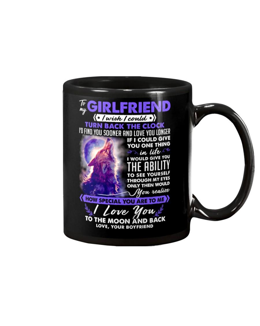 Wolf Girlfriend Clock Ability Moon Mug
