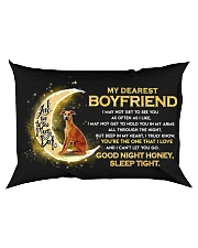 Whippet Boyfriend Sleep Tight  Rectangular Pillowcase back