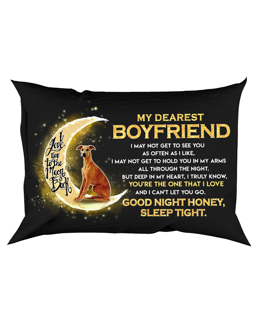 Whippet Boyfriend Sleep Tight  Rectangular Pillowcase