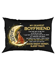 Whippet Boyfriend Sleep Tight  Rectangular Pillowcase front