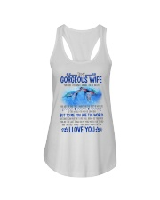 Turtle Wife To Me You Are The World Ladies Flowy Tank thumbnail