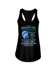 I Love You To The Moon Wolf Ladies Flowy Tank thumbnail