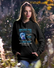 I Love You To The Moon Wolf Hooded Sweatshirt lifestyle-holiday-hoodie-front-5