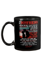 Marine Boyfriend To Me You Are The World Mug back