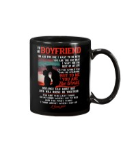 Marine Boyfriend To Me You Are The World Mug front