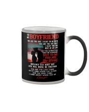 Marine Boyfriend To Me You Are The World Color Changing Mug thumbnail