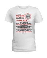 Viking Daughter Mom I'm Always With You Ladies T-Shirt thumbnail