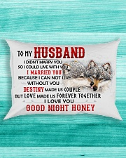Wolf Marry You Sweetheart Husband Rectangular Pillowcase aos-pillow-rectangle-front-lifestyle-5