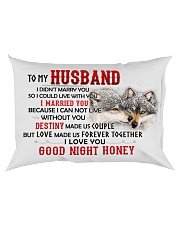 Wolf Marry You Sweetheart Husband Rectangular Pillowcase back