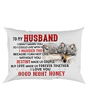 Wolf Marry You Sweetheart Husband Rectangular Pillowcase front