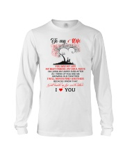 My Wife Growing Old Family Long Sleeve Tee thumbnail