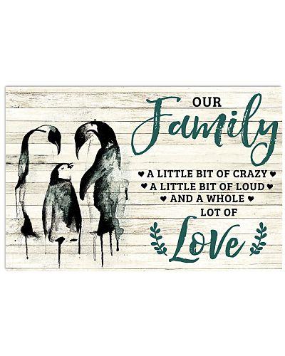 Family A Little Bit Of Crazy Penguin