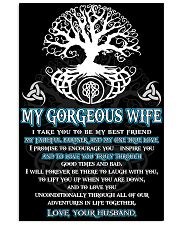 Faithful Partner True Love Wife Viking 11x17 Poster front