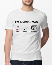 Fishing I'm simple man Classic T-Shirt lifestyle-mens-crewneck-front-13