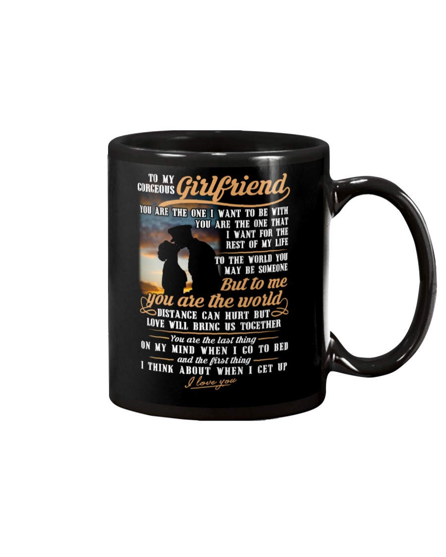 Marine Girlfriend To Me You Are The World Mug